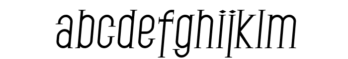 SF Gothican Italic Font LOWERCASE