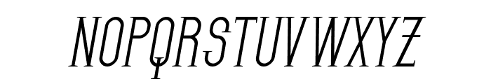 SF Gothican Oblique Font UPPERCASE