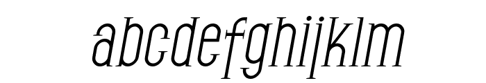 SF Gothican Oblique Font LOWERCASE