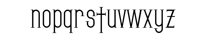 SF Gothican Font LOWERCASE