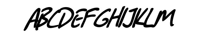 SF Grunge Sans Bold Italic Font UPPERCASE
