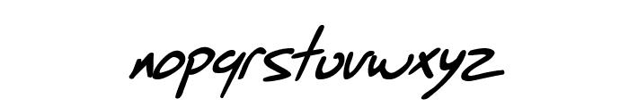 SF Grunge Sans Italic Font LOWERCASE