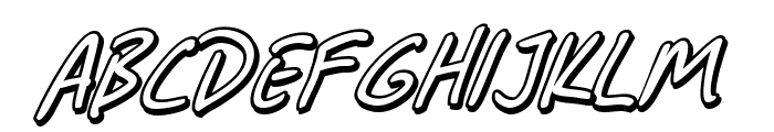 SF Grunge Sans Shadow Italic Font UPPERCASE