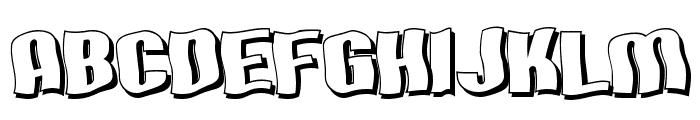 SF Hallucination Shadow Font UPPERCASE