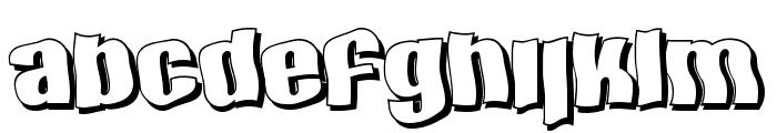 SF Hallucination Shadow Font LOWERCASE