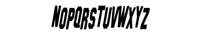 SF Hollywood Hills Condensed Italic Font LOWERCASE