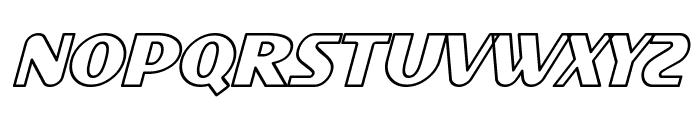 SF Intellivised Outline Italic Font UPPERCASE
