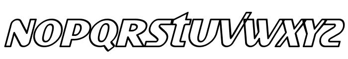 SF Intellivised Outline Italic Font LOWERCASE