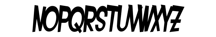 SF Intoxicated Blues Bold Oblique Font LOWERCASE