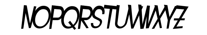 SF Intoxicated Blues Extended Oblique Font LOWERCASE