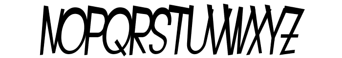 SF Intoxicated Blues Oblique Font UPPERCASE
