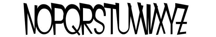 SF Intoxicated Blues Font UPPERCASE