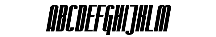 SF Iron Gothic Bold Oblique Font UPPERCASE