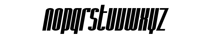 SF Iron Gothic Bold Oblique Font LOWERCASE
