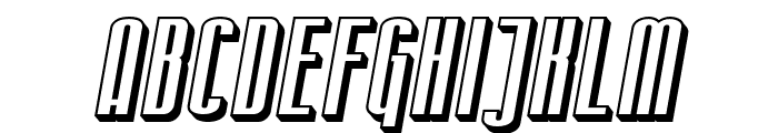SF Iron Gothic Shaded Oblique Font UPPERCASE