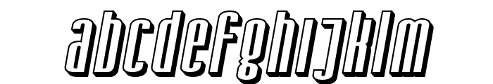 SF Iron Gothic Shaded Oblique Font LOWERCASE