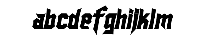 SF Ironsides Bold Italic Font LOWERCASE