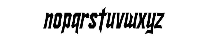 SF Ironsides Condensed Italic Font LOWERCASE