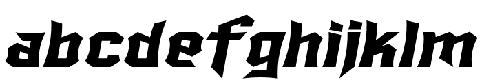 SF Ironsides Extended Italic Font LOWERCASE