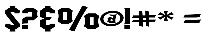 SF Ironsides Extended Font OTHER CHARS