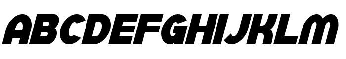 SF Juggernaut Condensed Bold Italic Font UPPERCASE