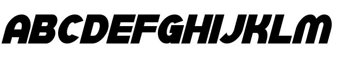 SF Juggernaut Condensed Bold Italic Font LOWERCASE