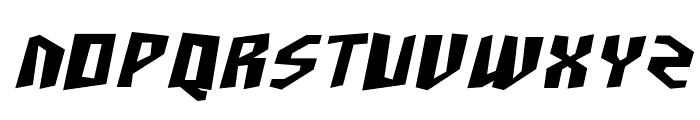 SF Junk Culture Bold Oblique Font UPPERCASE