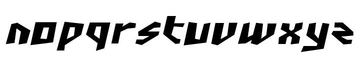 SF Junk Culture Bold Oblique Font LOWERCASE