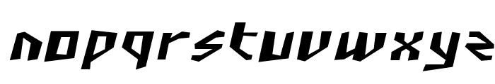 SF Junk Culture Oblique Font LOWERCASE