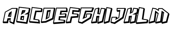 SF Junk Culture Shaded Oblique Font UPPERCASE
