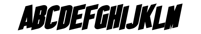 SF Obliquities Bold Font UPPERCASE