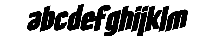 SF Obliquities Bold Font LOWERCASE