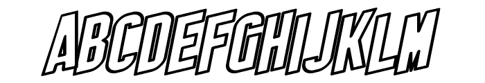 SF Obliquities Outline Font UPPERCASE
