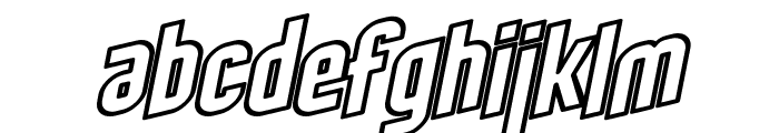 SF Obliquities Outline Font LOWERCASE