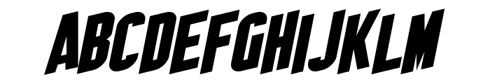 SF Obliquities Font UPPERCASE