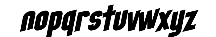 SF Obliquities Font LOWERCASE