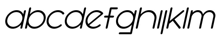 SF Orson Casual Light Oblique Font LOWERCASE