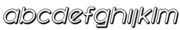SF Orson Casual Shaded Oblique Font LOWERCASE