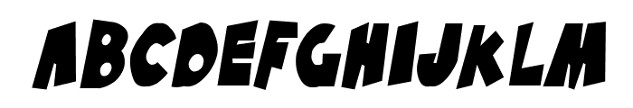 SF Pale Bottom Condensed Oblique Font UPPERCASE