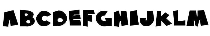 SF Pale Bottom Extended Font UPPERCASE