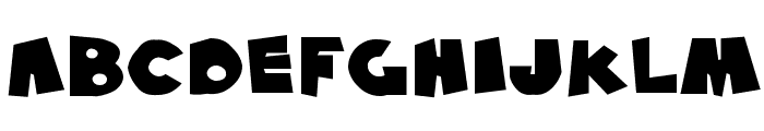 SF Pale Bottom Extended Font LOWERCASE