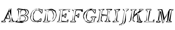 SF Phosphorus Oxide Font UPPERCASE