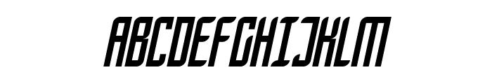 SF Piezolectric Condensed Oblique Font UPPERCASE