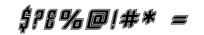 SF Piezolectric Inline Oblique Font OTHER CHARS