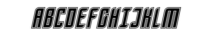 SF Piezolectric Inline Oblique Font UPPERCASE