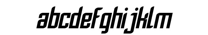 SF Piezolectric Oblique Font LOWERCASE
