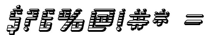 SF Piezolectric SFX Oblique Font OTHER CHARS