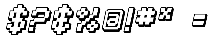 SF Pixelate Shaded Bold Oblique Font OTHER CHARS