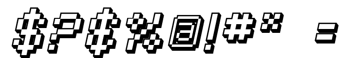 SF Pixelate Shaded Oblique Font OTHER CHARS