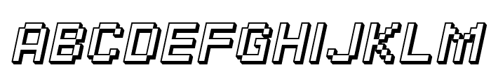 SF Pixelate Shaded Oblique Font UPPERCASE